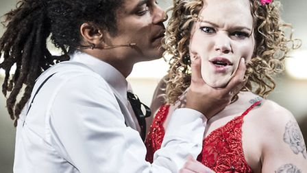 Milton Lopes and CiCi Howells as MacHeath and Polly Peachum in The Threepenny Opera. Picture: Patri