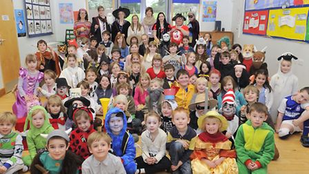 Pupils at Easton Primary School dressed as their favourite book characters as part of World Book Wee