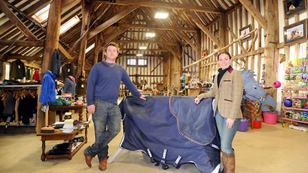 Sister and brother Kirstie and Nick Johnston at ForeLock & Load, Barrow, near Bury St Edmunds, creat