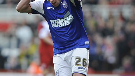 Paul Taylor is disappointed to miss a good first half chance at Middlesborough