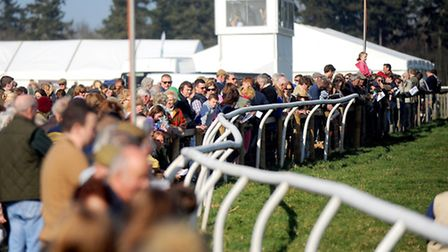Ampton point-to-point horse racing, near Bury St Edmunds.