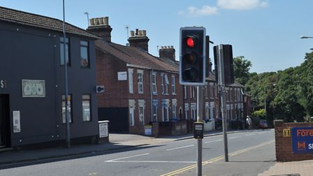 The corner of Spring Road and Cauldwell Hall Road.