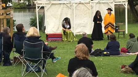 Roughcast Theatre performs Shakespeare's Twelfth Night at the Mere in Diss. Picture: Lucy Begbie