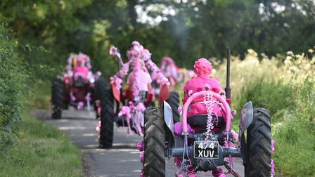 The 14th annual Pink Ladies Tractor Road Run for Cancer Research UK.Picture: Nick Butcher