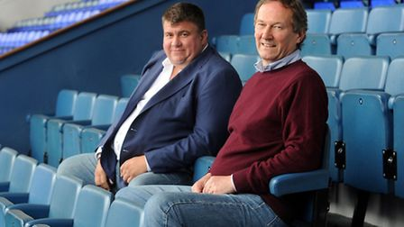 Ipswich Town Football Club managing director, Jonathan Symonds (left) and Ian Milne are pictured at