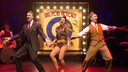 Tomm Coles, Jill Cardo and Harry Waller in Miss Nightingale, the burlesque musical, being staged at
