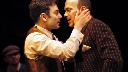 Harry Waller and Tomm Coles in Miss Nightingale which is being staged at the New Wolsey Theatre, Ips