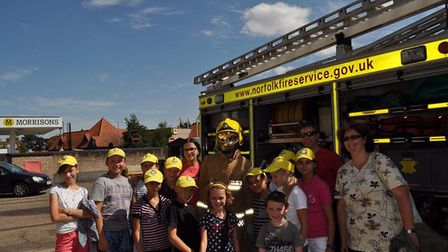 Children from the Belarus region which is still affected by the Chernobyl disaster, visit Diss Fire