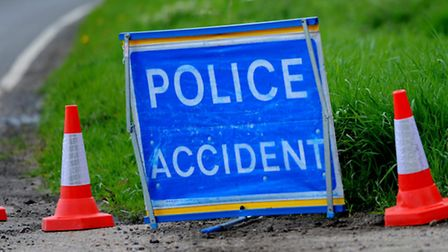 Emergency services were called to the scene of the three-vehicle collision on the A11 north of Fivew