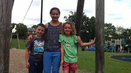 Sasha from the Belarus region enjoying the summer summer holidays with Finlay and Emma Neve from her