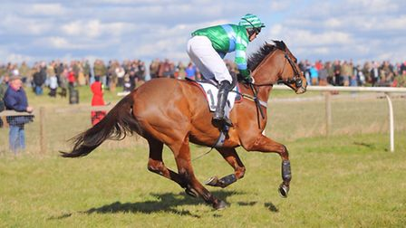 High Easter point to point. Pictured is Caulkin ridden by D Kemp.