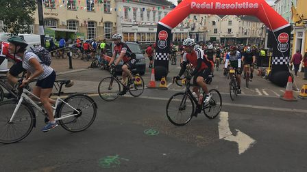 An estimated 1,000 competitors took part in the Diss Cyclathon. Photo:Lucy Begbie