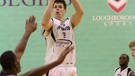 Colin Dockrell puts up a shot at Loughborough