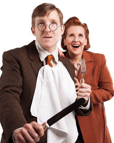 Hadyn Oakley and Amy Booth-Steel as Gilbert and Joyce Chilvers in Betty Blue Eyes, the musical of A