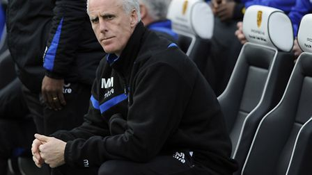 In the driving seat: Mick McCarthy before the start of Saturday's match against Brighton at The Amex