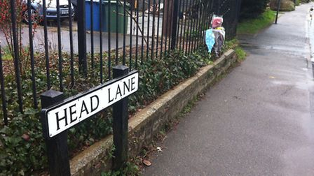 Flowers laid for Christine Ward in Head Lane