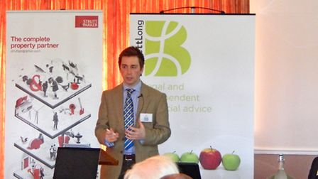 Ed Barker of the Country Land and Business Association addresses delegates at a CAP reform talk at C