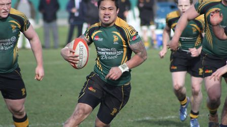 Bury's Tanimo Samoa scored twice in a losing effort at CS Rugby