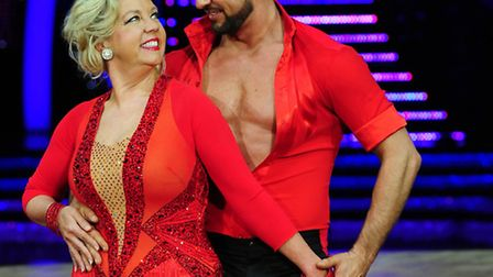 Ipswich and Strictly Come Dancing star Robin Windsor and dance partner Deborah Meaden. Photo: PA