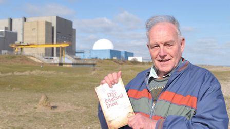Author, Barrie Skelcher with his new book ' The Day England Died'.