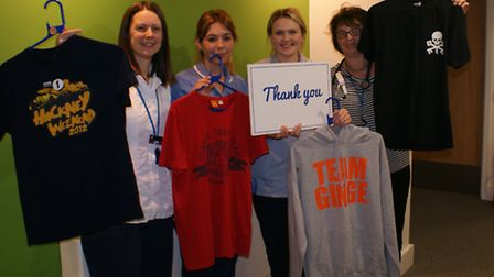 Senior physiotherapist Erica Dyson, nurse Sarah Clifford, assistant practitioner Claire Anderson and