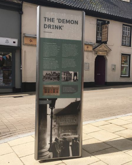 New information boards telling the history of some of the buildings in the The Heritage Triangle Pho
