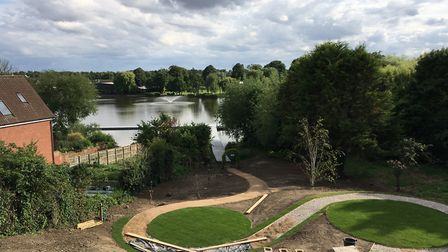 Work at the council gardens which are being transformed with the planting of fruit trees and flowers