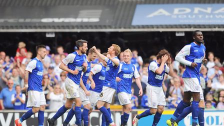 Ipswich Town v AFC Bournemouth. Sky Bet Championship. Town celebrate after Paul Taylor scores taking