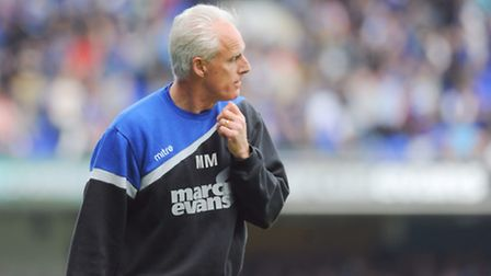 Ipswich Town v AFC Bournemouth. Sky Bet Championship. Ipswich manager Mick McCarthy.