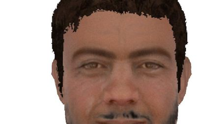 Police have released this e-fit likeness of a man who exposed himself to two girls in Mildenhall