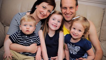 Craig Stammers and his family. Craig is running the London marathon for the Cystic Fibrosis Trust. H