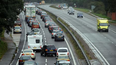 Congestion on A12 and Ipswich Road following three-car crash