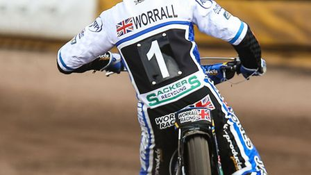 Richie Worrall, leads Ipswich at Rye House on Easter Sunday