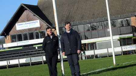 Andy Spetch (left) and Austin Cornish pictured at Bury St Edmunds Rugby Club.