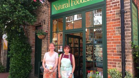 STAFF - Faye Jackson and Rebecca Everall outide The Natural Foodstore in Diss. picture: SABRINA JOHN
