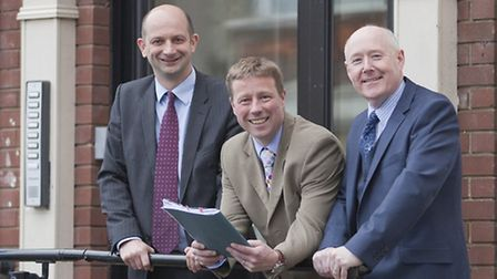 From left, Richard Foyster, partner, Edward O'Rourke, chief executive, and Roger Loomes, personal i