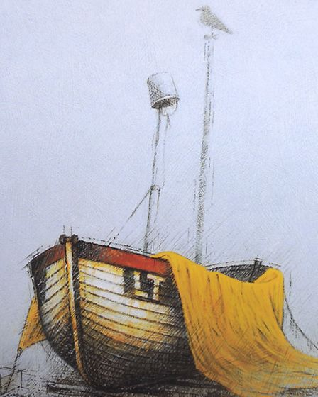 Artwork by Guy Gladwell, an award winning Aldeburgh artist, who died recently.