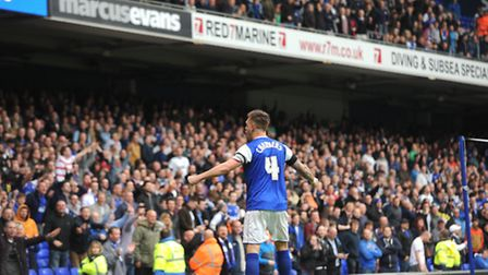 Ipswich Town v Doncaster Rovers. Sky Bet Championship. 12th April 2014. Luke Chambers at the end
