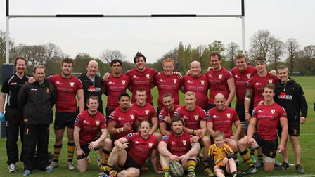 The Bury rugby squad after the final game of the season
