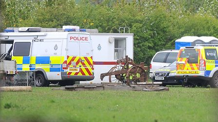 Police are continuing investigations at an address in Wyverstone following the discovery of a number