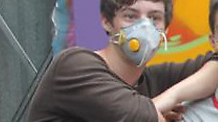 Ryan Noakes taking part in a graffiti art project at school