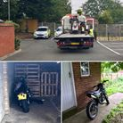 South Norfolk police recovered four stolen motorbikes and took three people into custody. Picture: S