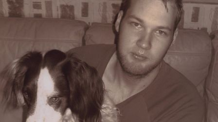 Aaron Coote with his dog Queenie