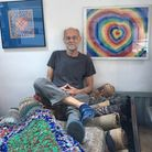 John Miller who is looking for a permanent place to display his rag rugs. Picture: Lucy Begbie