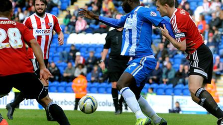 Jabo Ibehre in action against Brentford on Saturday