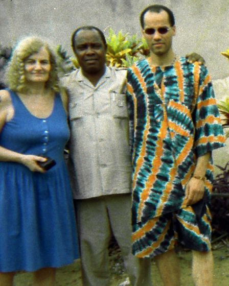 Segun Lee-French with his mum and dad