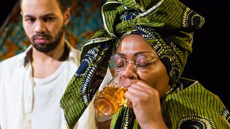 Ricci McLeod and Antoinette Marie Tagoe in Eastern Angles Palm Wine and Stout. Photo: Mike Kwasniak