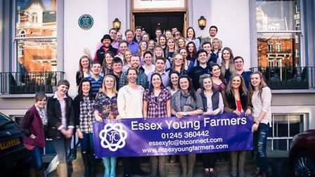 Essex Young Farmers outside the Abbey Road Studios in London.