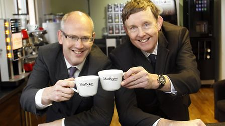 From left, David Read of NatWest and Eric Morton of Morvend.