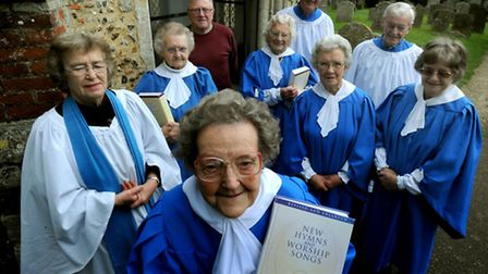 Olive Bettison celebrates 60 years a chorister at Cavendish Church